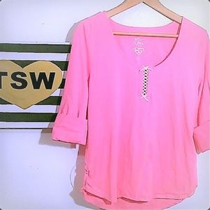 BETSEY JOHNSON PINK SOFT TOP SWEET & CUTE LARGE